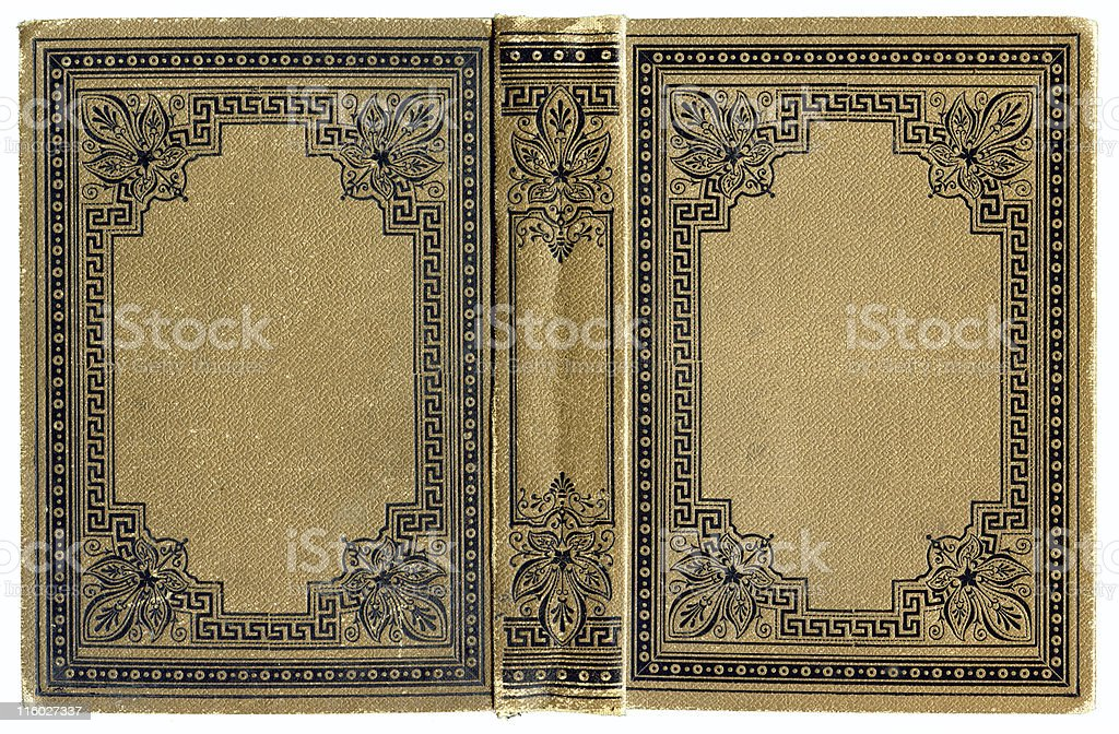 Old grunged ancient Book cover royalty-free stock photo