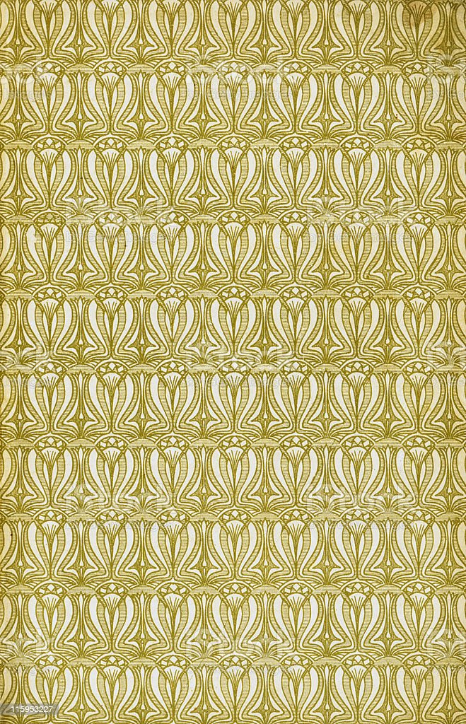 Old grunged ancient stained paper with art nouveau design 02 stock photo