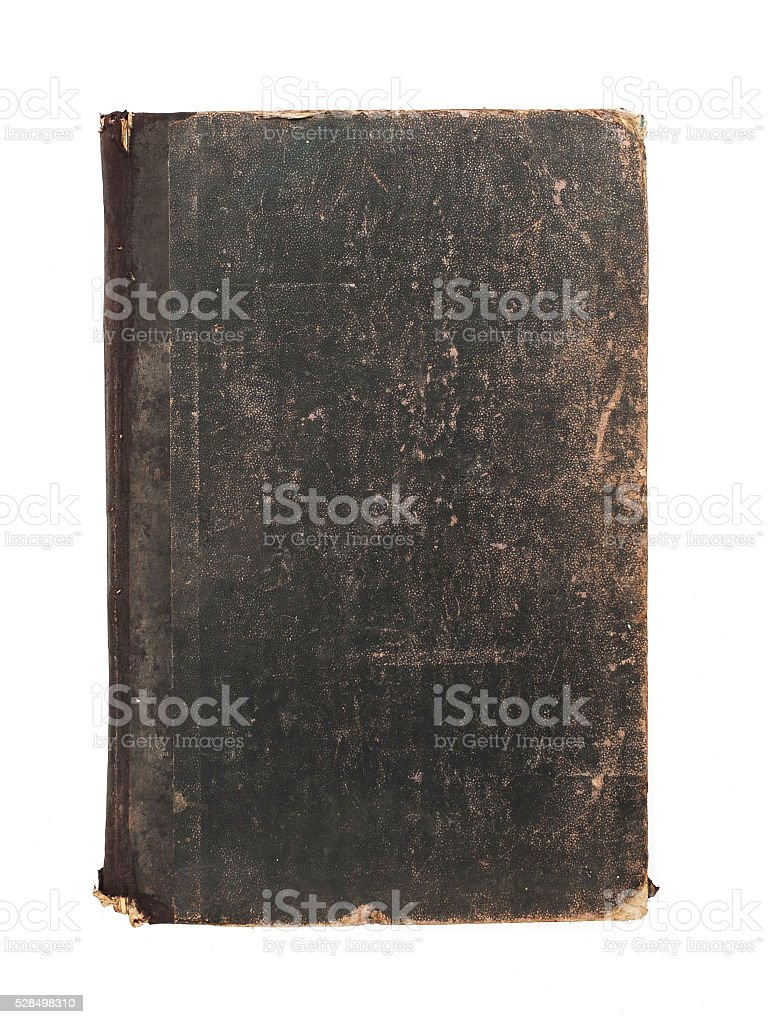 Old grungy book stock photo