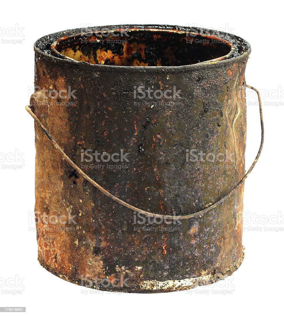 Old grungy bucket royalty-free stock photo