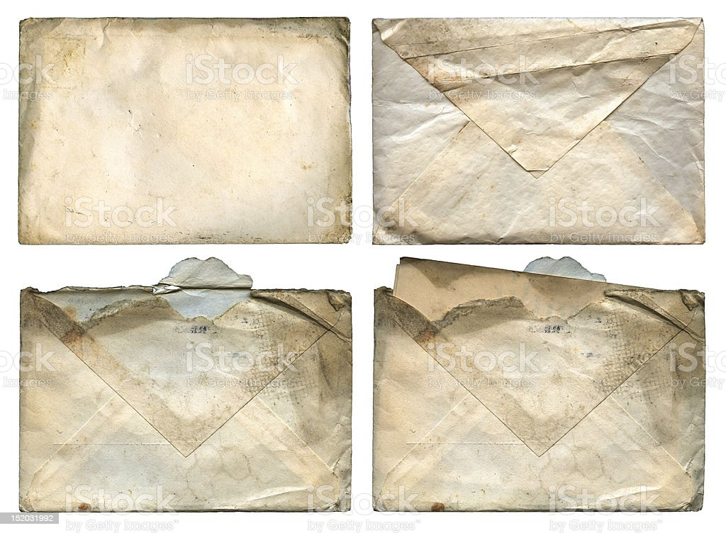 Old Grungy Envelopes royalty-free stock photo