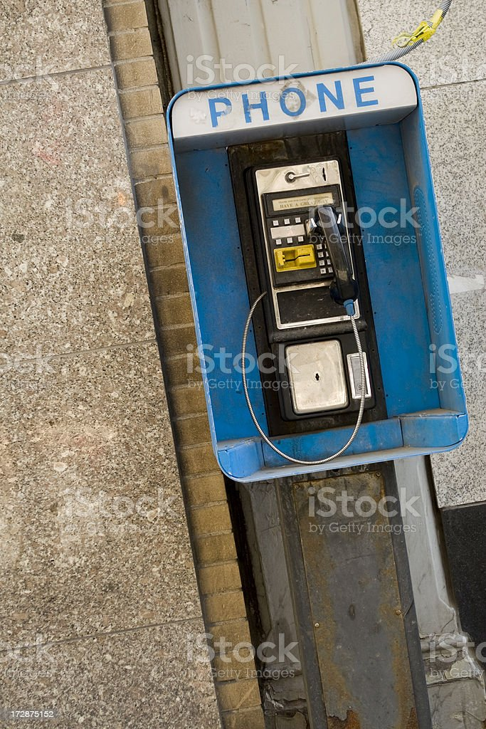 Old Grungy Phone royalty-free stock photo