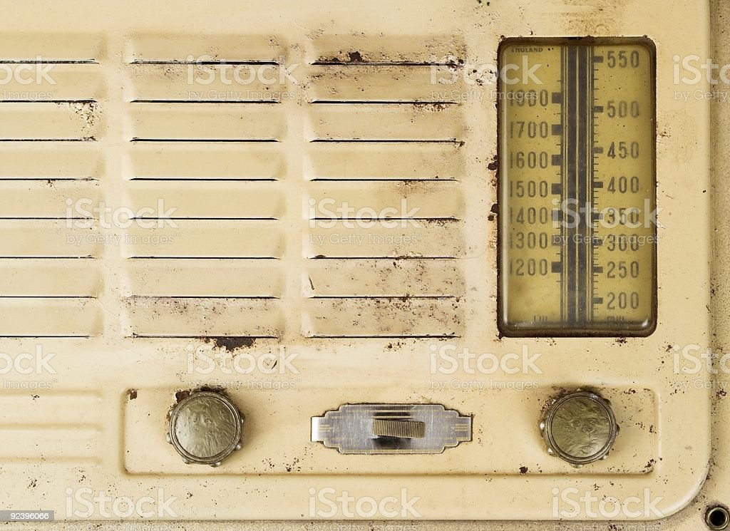 Old Grungy Valve Radio Close Up royalty-free stock photo