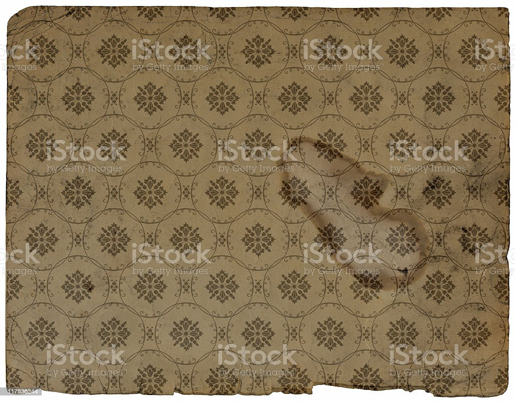 Old Grungy Wallpaper stock photo