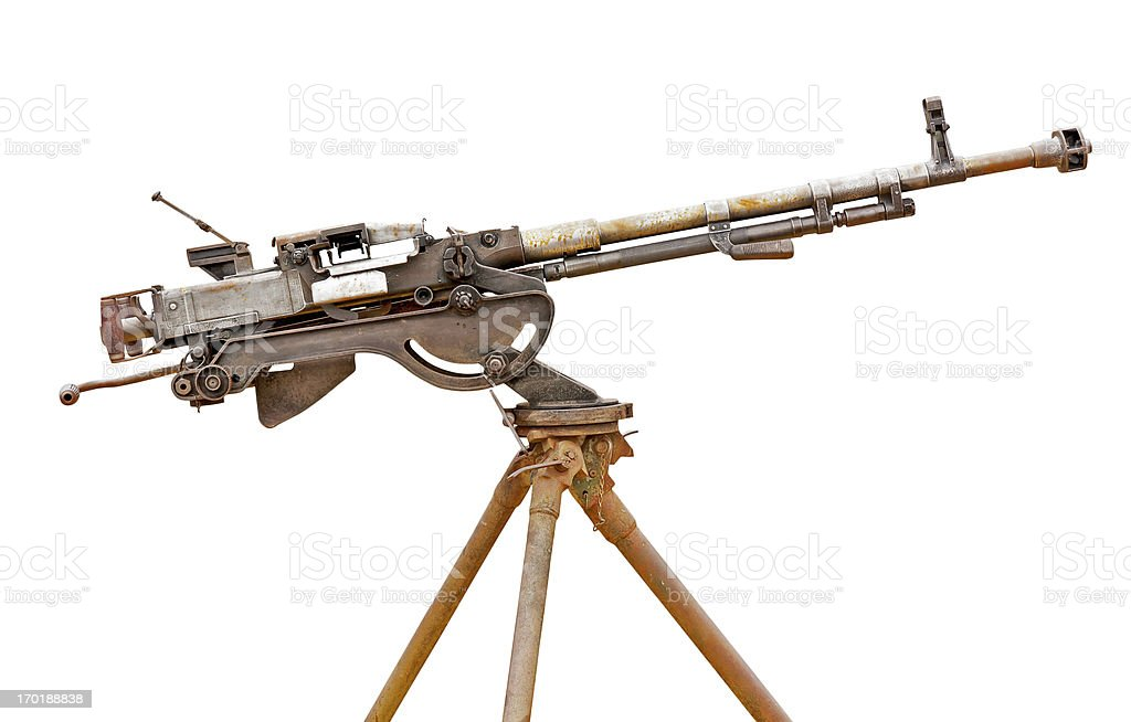 Old gun at museum stock photo