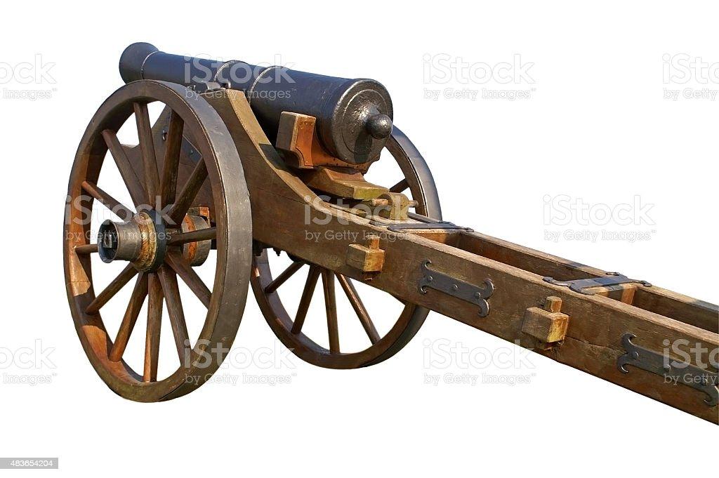 old gun isolated stock photo