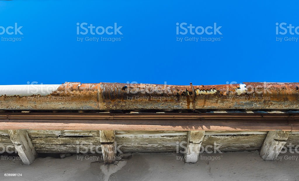 Old gutter stock photo