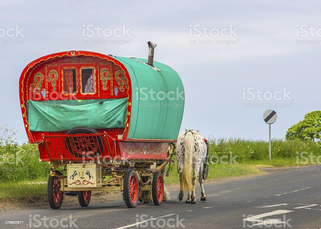 Old Gypsy Caravan stock photo