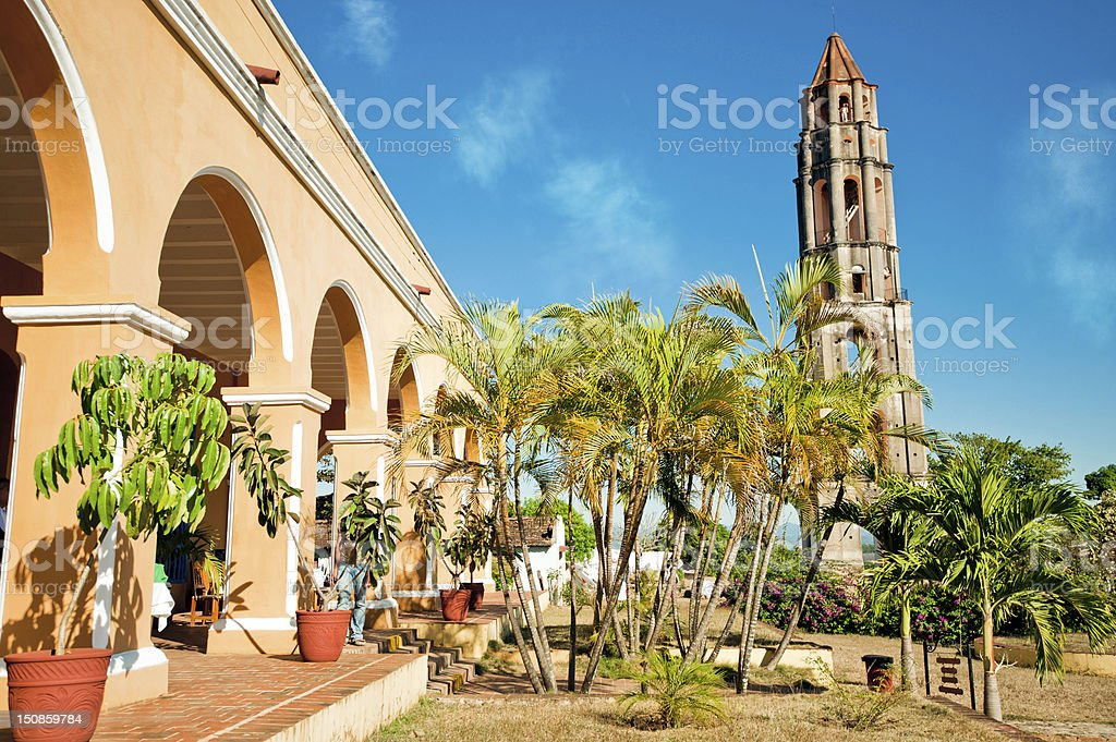 Old hacienda de Pedro Iznaga, near Trinidad, Cuba stock photo