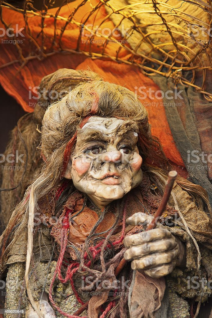 Old Hag - Witch Puppet of Prague stock photo