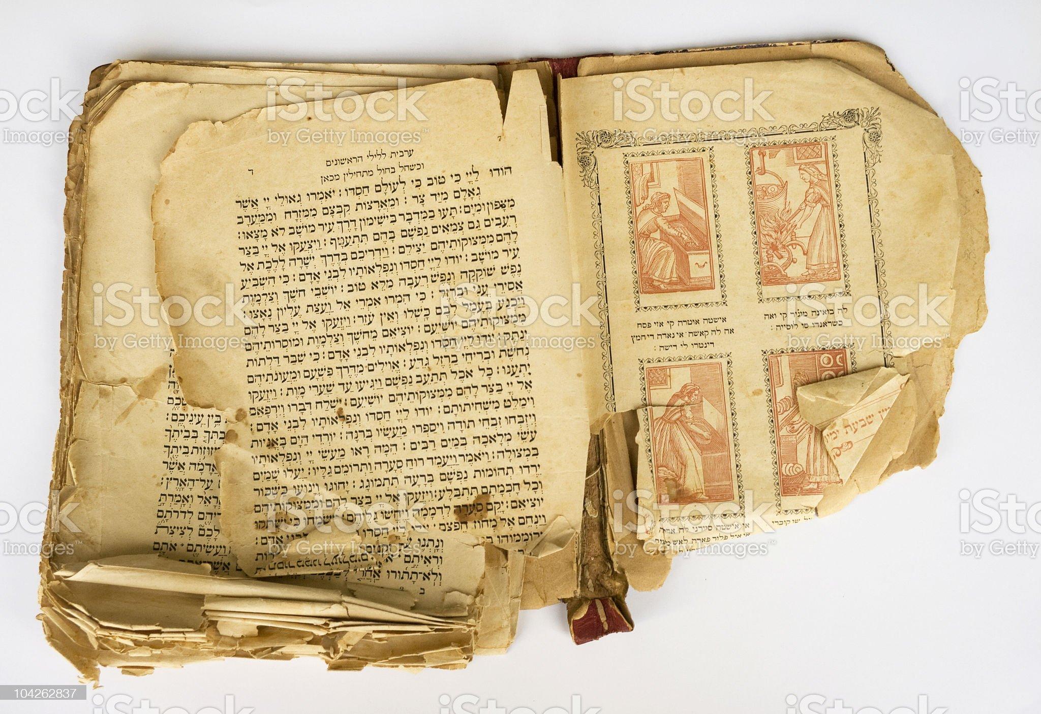 Old Hagada Book royalty-free stock photo