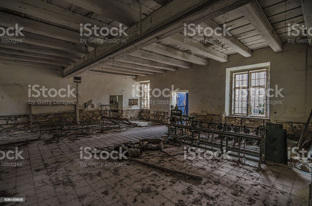 old hall in spinning stock photo