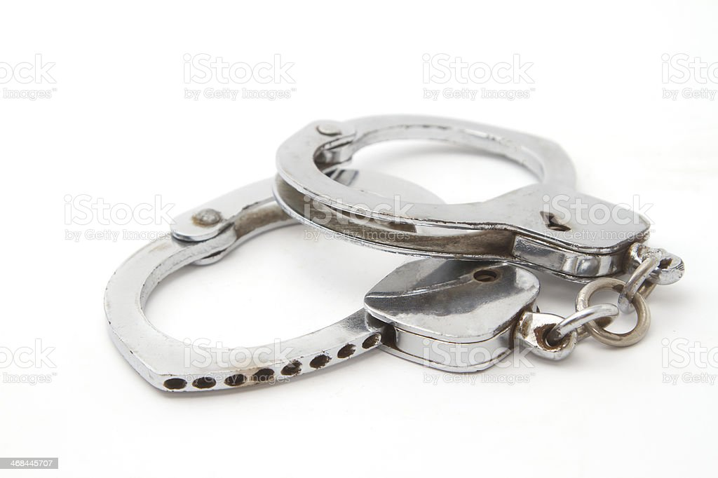 old hand cuffs royalty-free stock photo