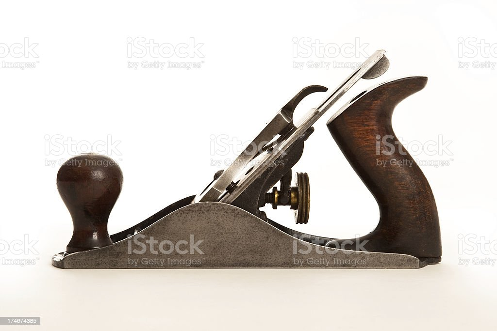 Old hand plane royalty-free stock photo