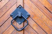old handle on the door