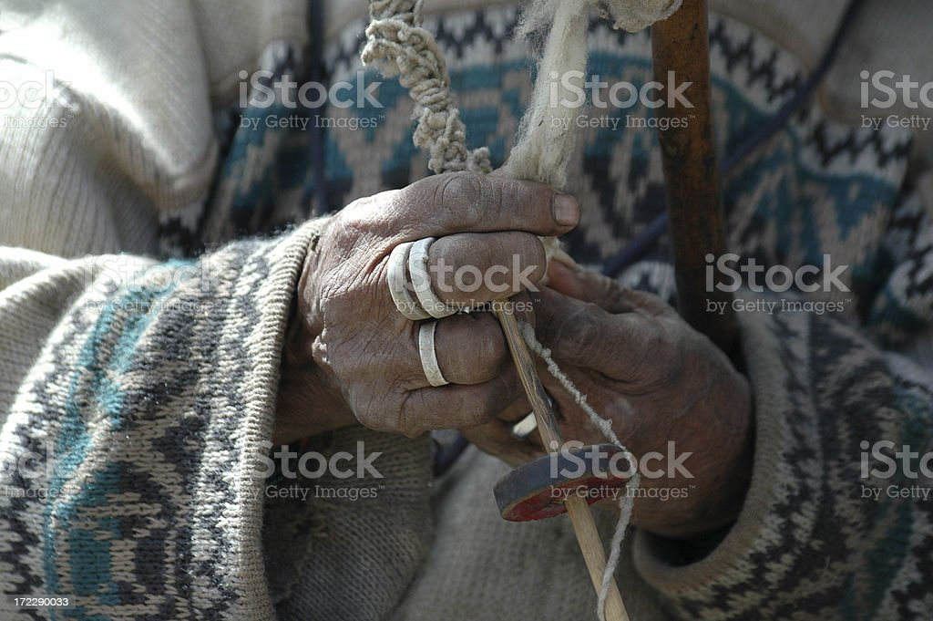 Old hands at work royalty-free stock photo