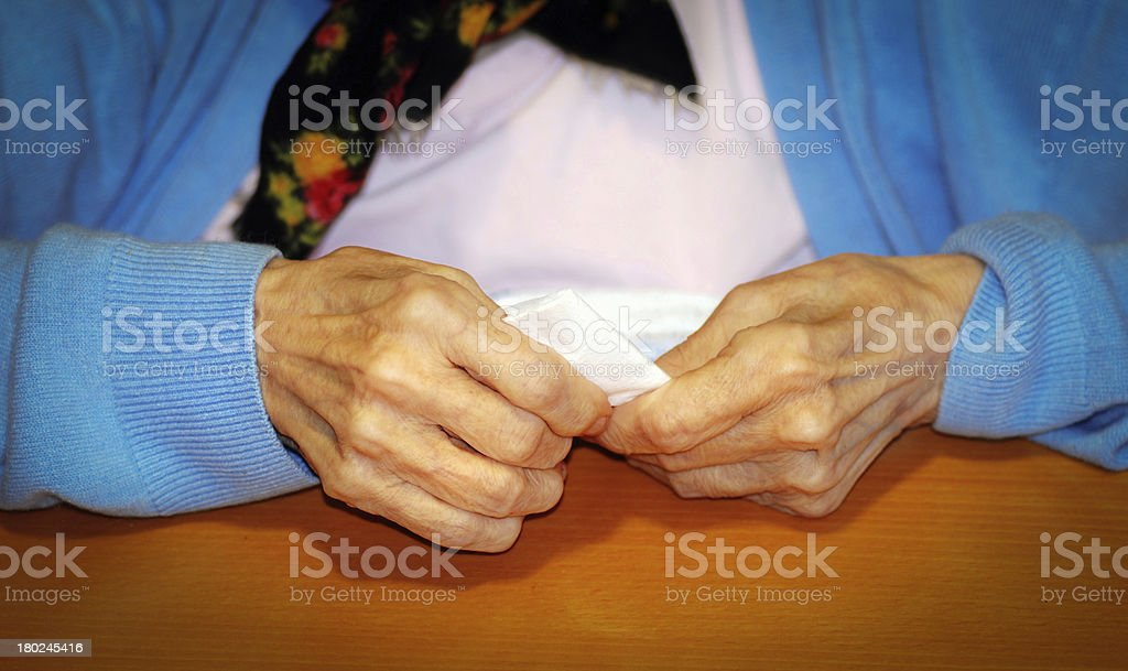 Old hands in nursing home royalty-free stock photo
