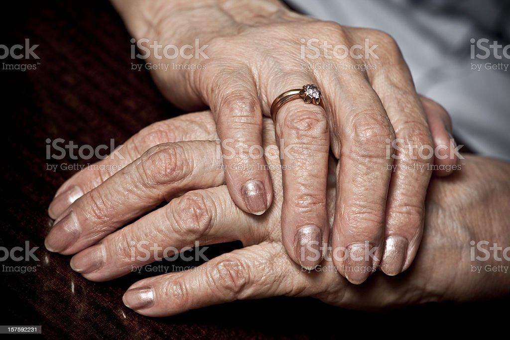 Old hands royalty-free stock photo