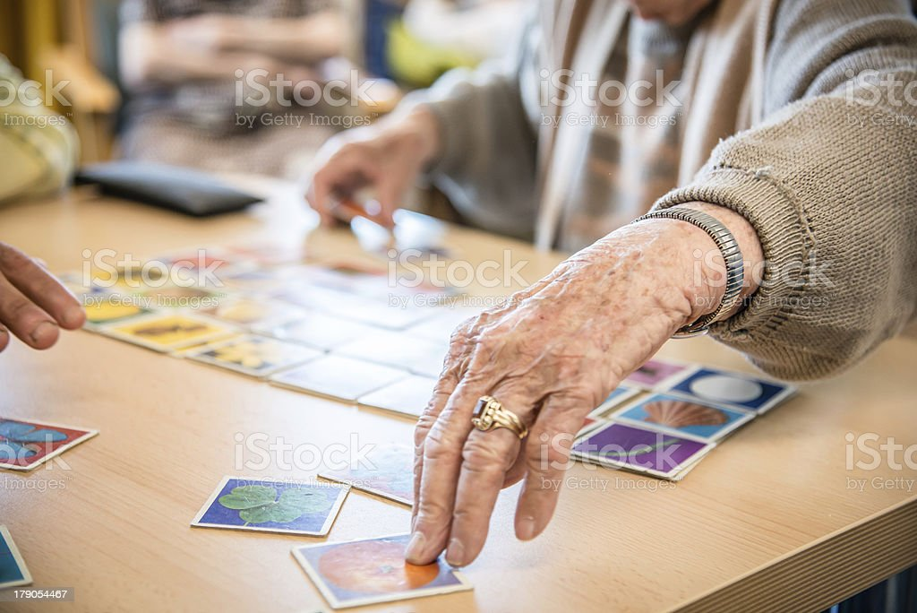 old hands plays memory stock photo
