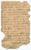 Old handwriting - circa 1881