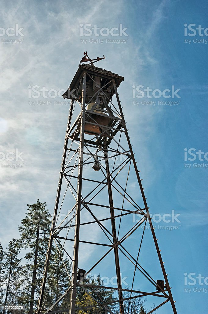 Old Hangtown Bell Tower stock photo