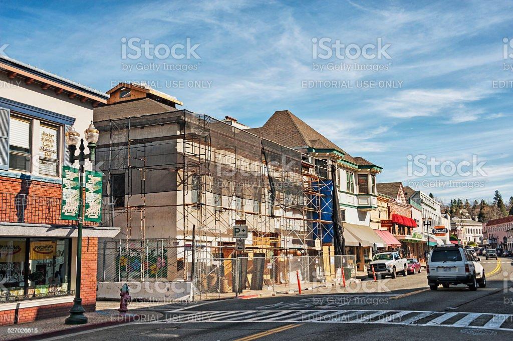 Old Hangtown Restoration stock photo