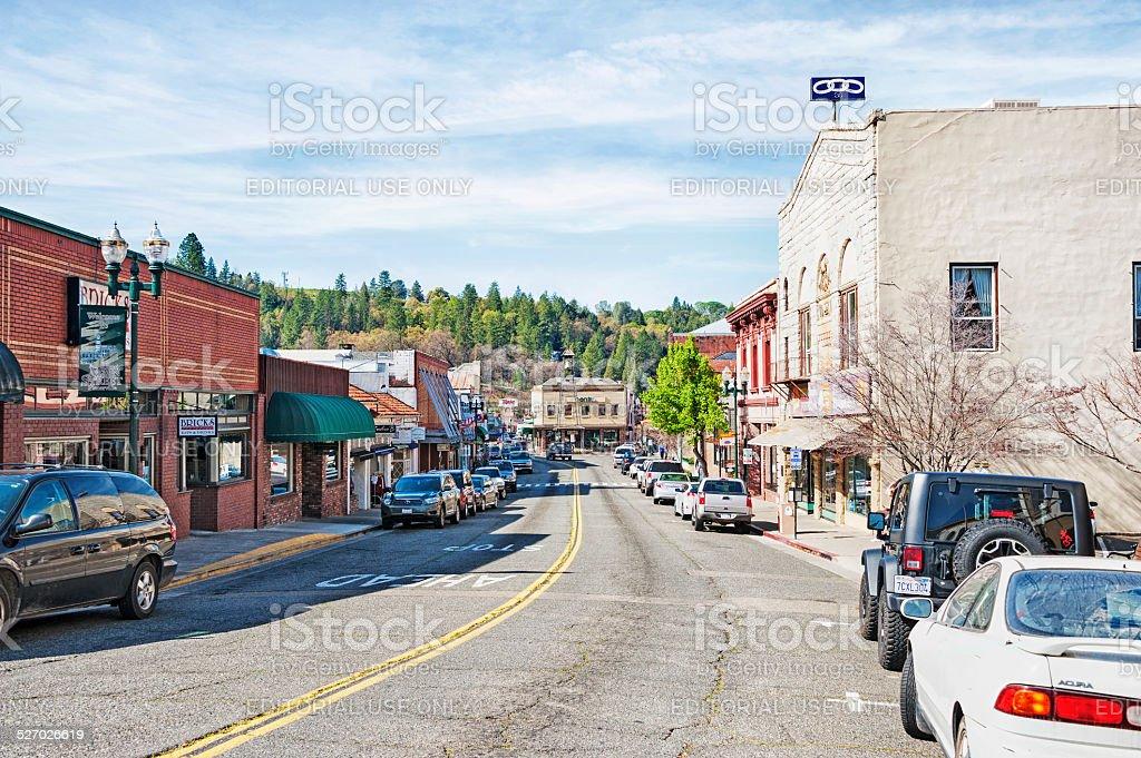 Old Hangtown Street Scene stock photo