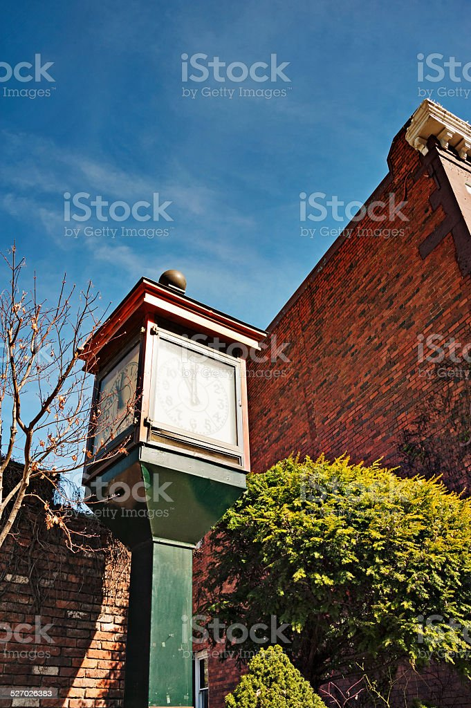 Old Hangtown Town Clock stock photo