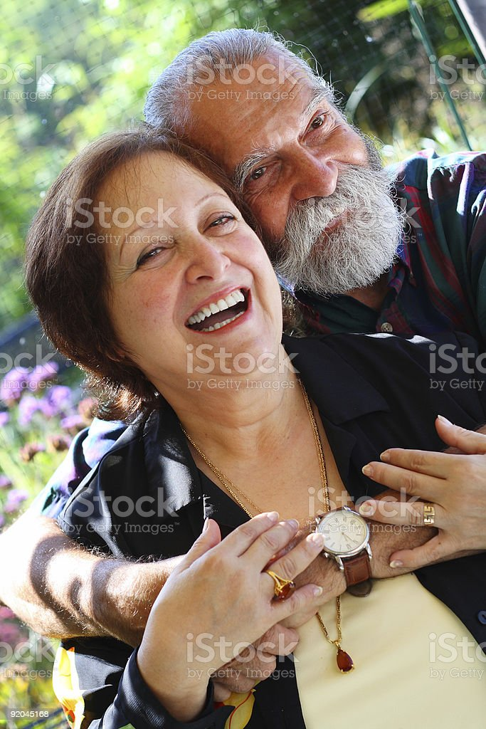 Old happy couple royalty-free stock photo