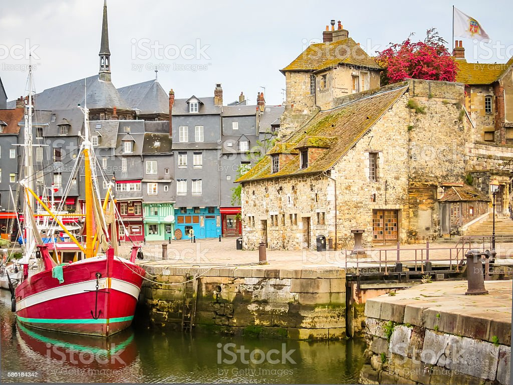 Old Harbor. Honfleur, Normandy, France stock photo