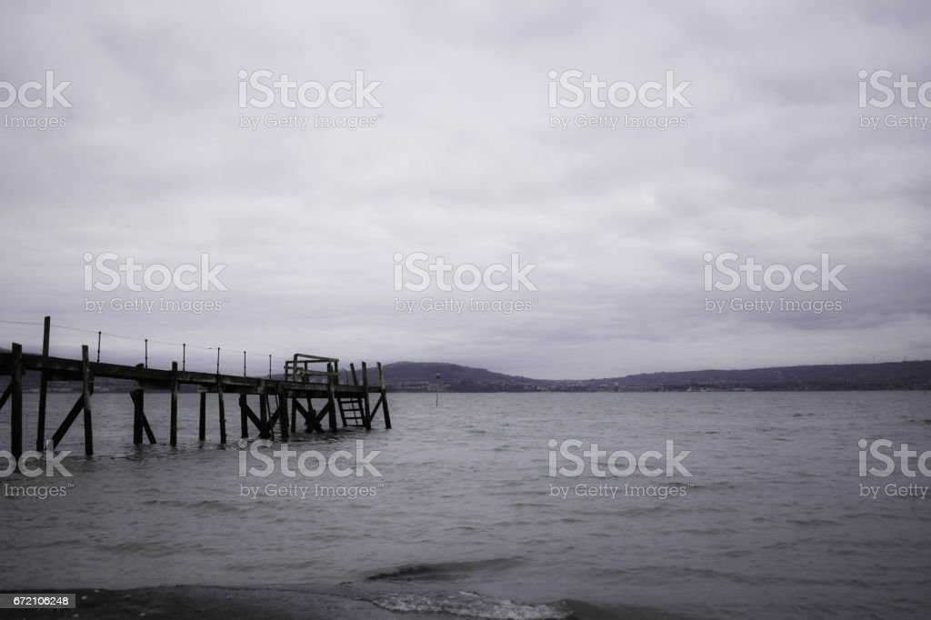 Old harbour stock photo