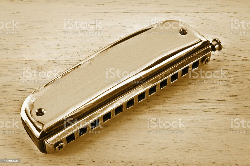Old harmonica. royalty-free stock photo