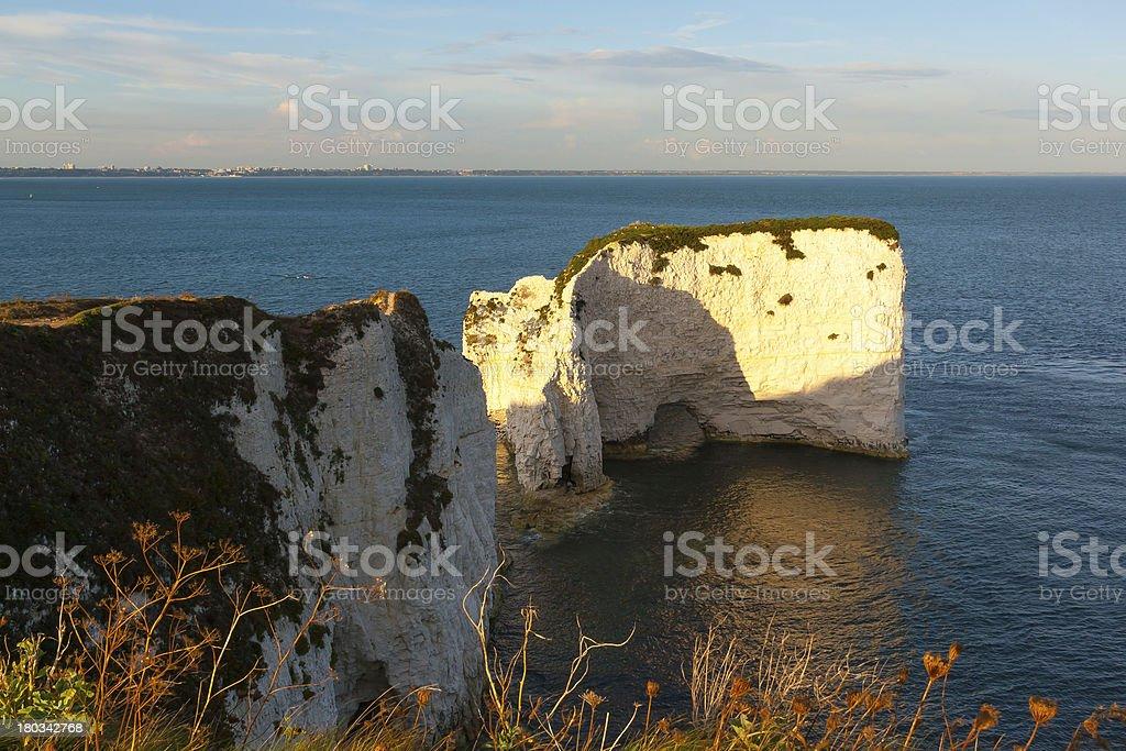Old Harry Rocks Dorset stock photo