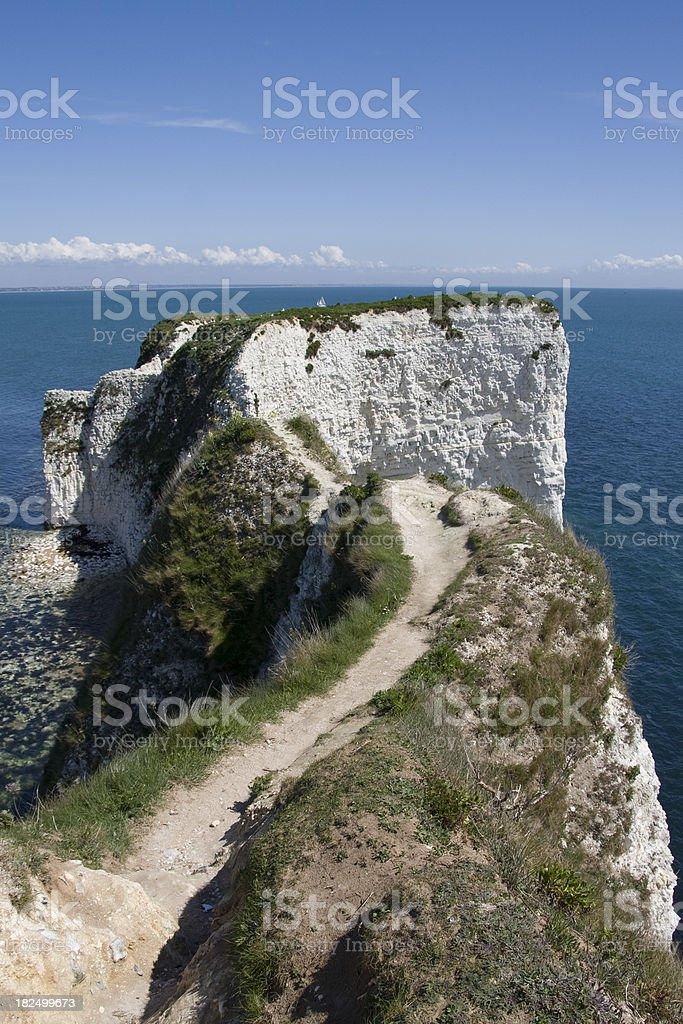 Old Harry Rocks in Dorset stock photo