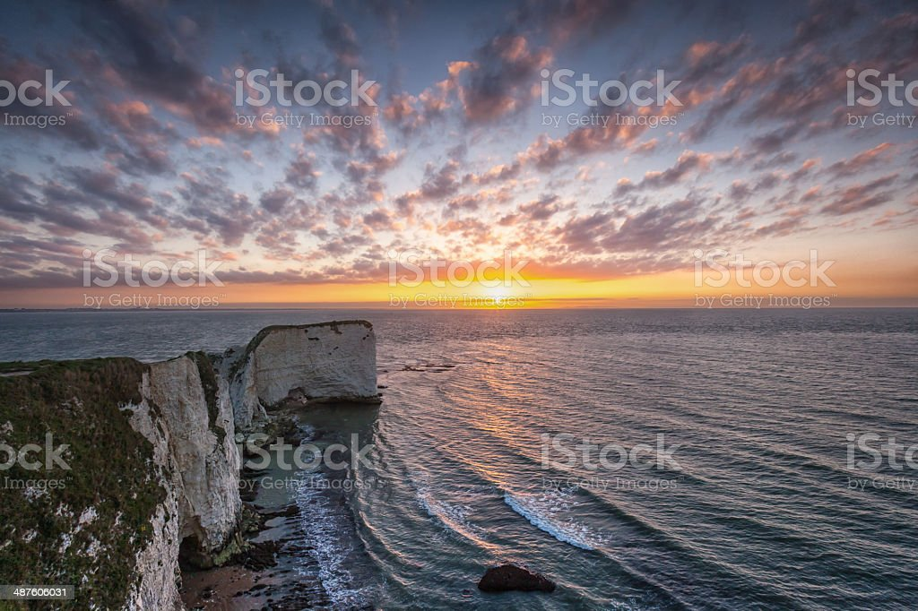 Old Harry Rocks, Jurassic Coast, Dorset stock photo