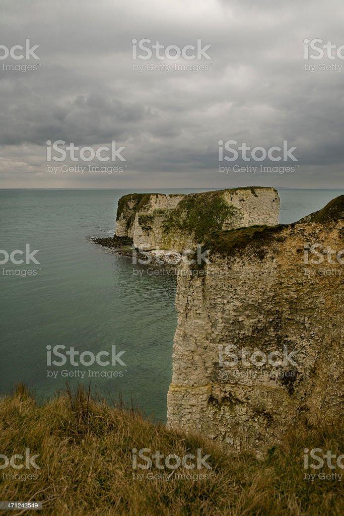 Old Harry Rocks stock photo