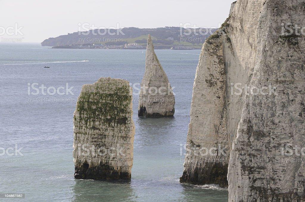 Old Harry Rocks, Swanage stock photo
