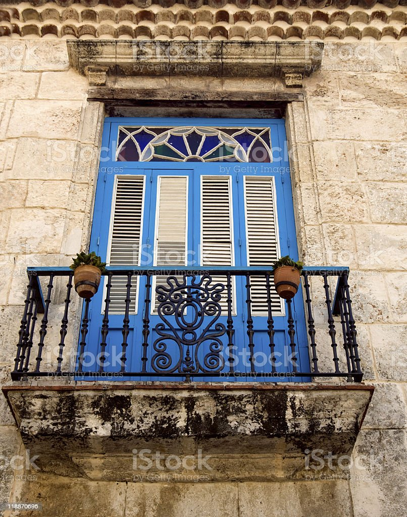 old havana house royalty-free stock photo