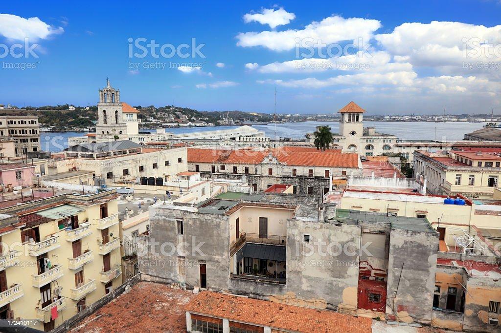 Old Havana panorama royalty-free stock photo