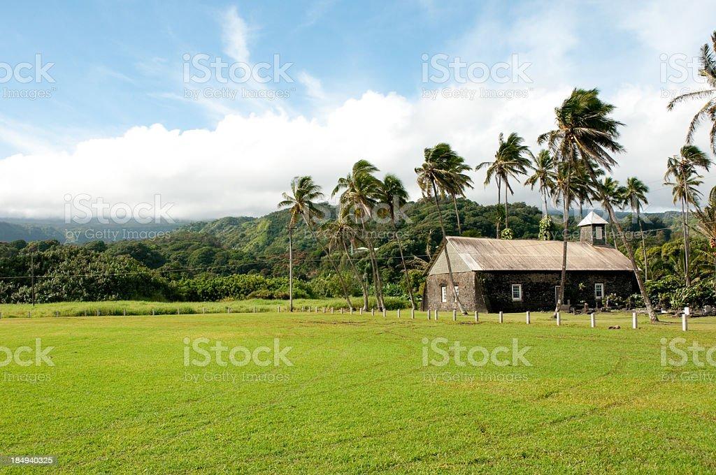 Old Hawaiian Church royalty-free stock photo