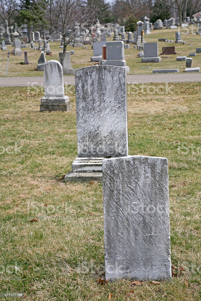 Old Headstones royalty-free stock photo