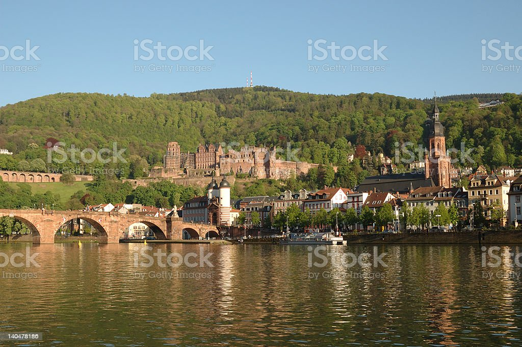 Old Heidelberg in late afternoon royalty-free stock photo