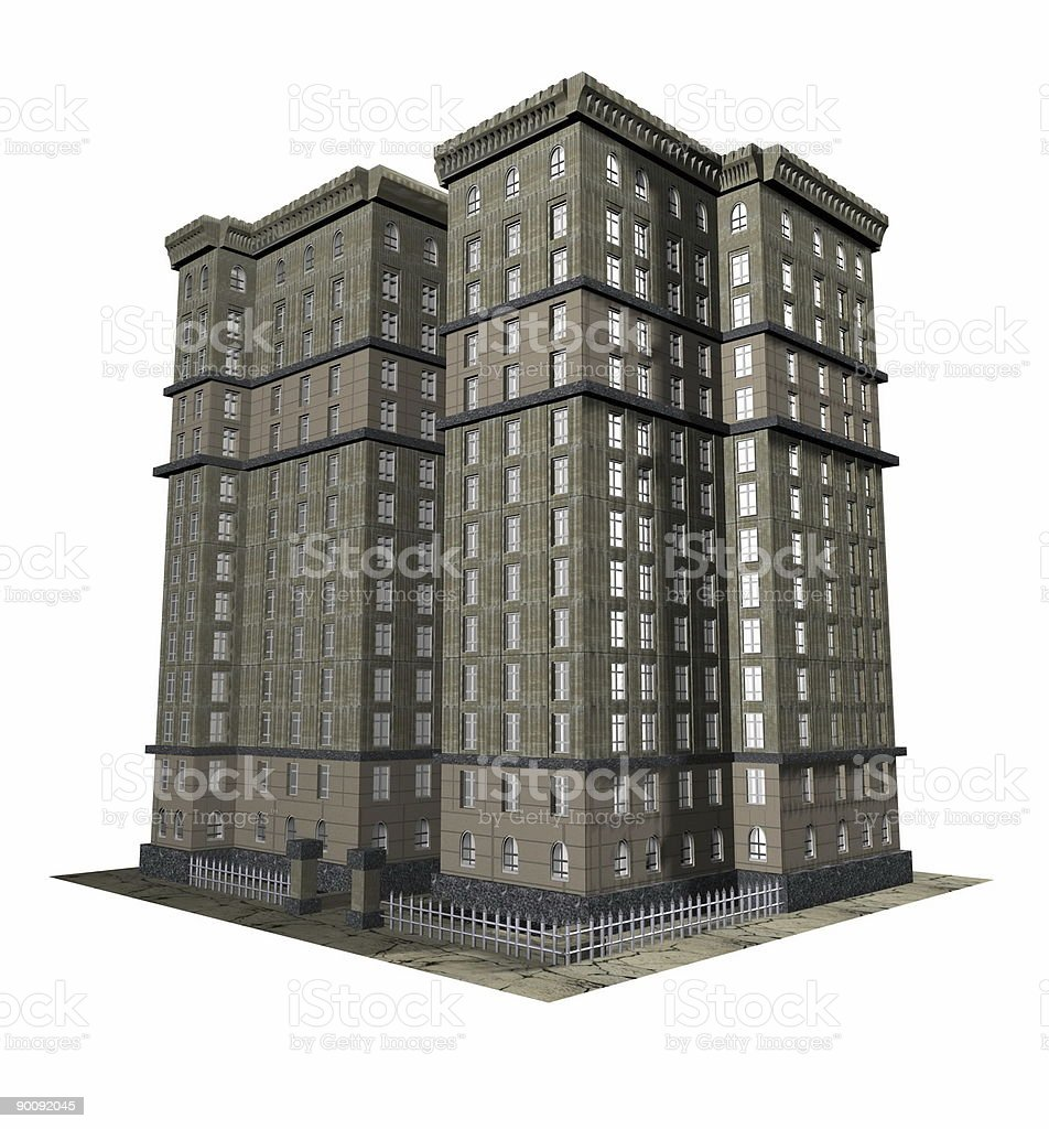 Old height house (3D) royalty-free stock photo
