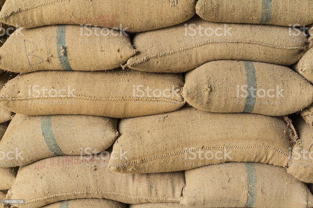 Old hemp sacks royalty-free stock photo