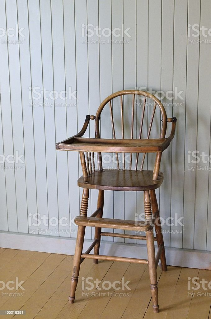 old highchair stock photo