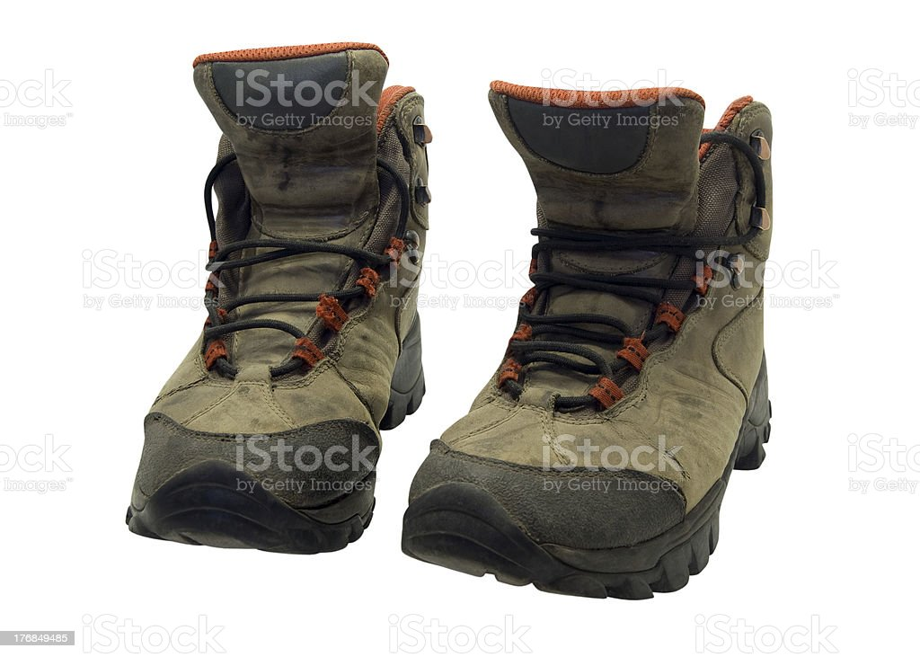 Old hiking boots royalty-free stock photo