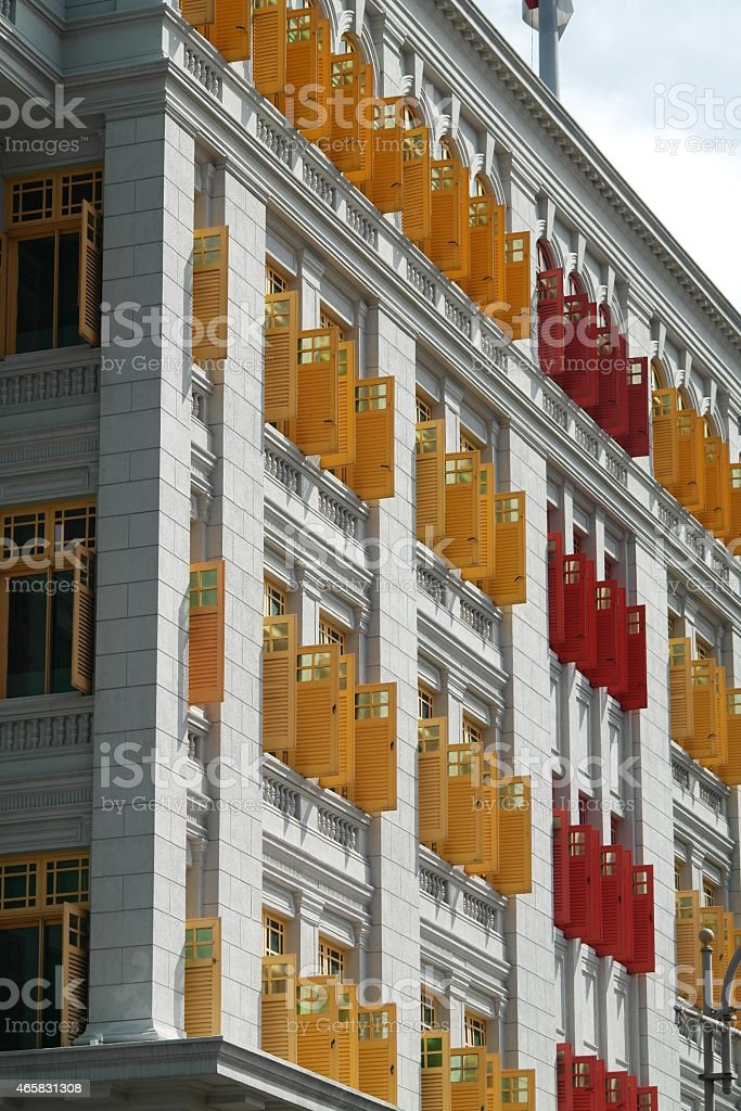 Old Hill Street Police Station in Singapore stock photo