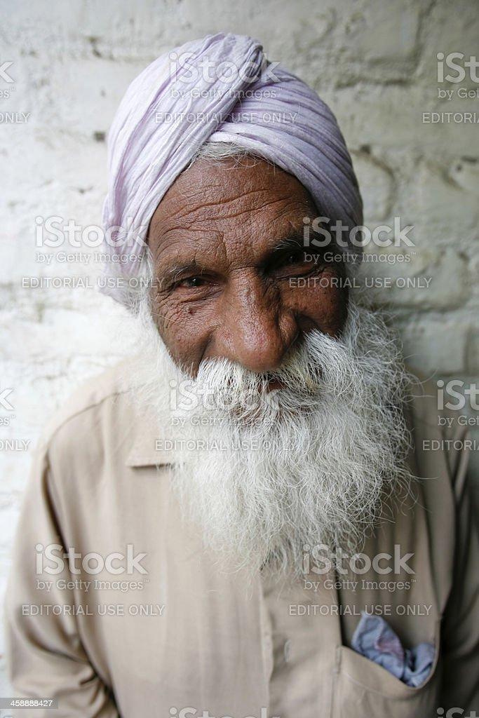 Old Hindu with long white beard royalty-free stock photo