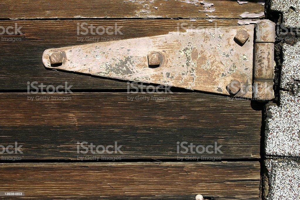 Old Hinge stock photo