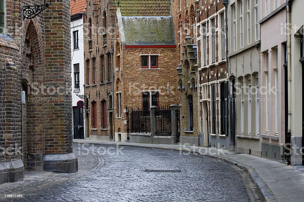 Old historic architecture of Brugge, Belgium royalty-free stock photo